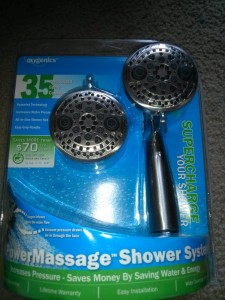 oxygenics shower head review and giveaway savior cents. Black Bedroom Furniture Sets. Home Design Ideas