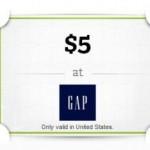 Free $5 Gap Gift Card