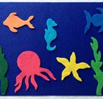 Big Blue Sea Felt Aquarium Craft