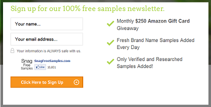 snag free samples