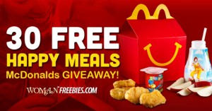 womans freebies free happy meal