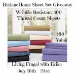 Enter to Win a 300 Thread Count Wrinkle Resistant Sheet set!! Ends 7/23!