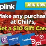 FREE $10 Gift Card When you Sign up for Plink and Eat at Chili's!
