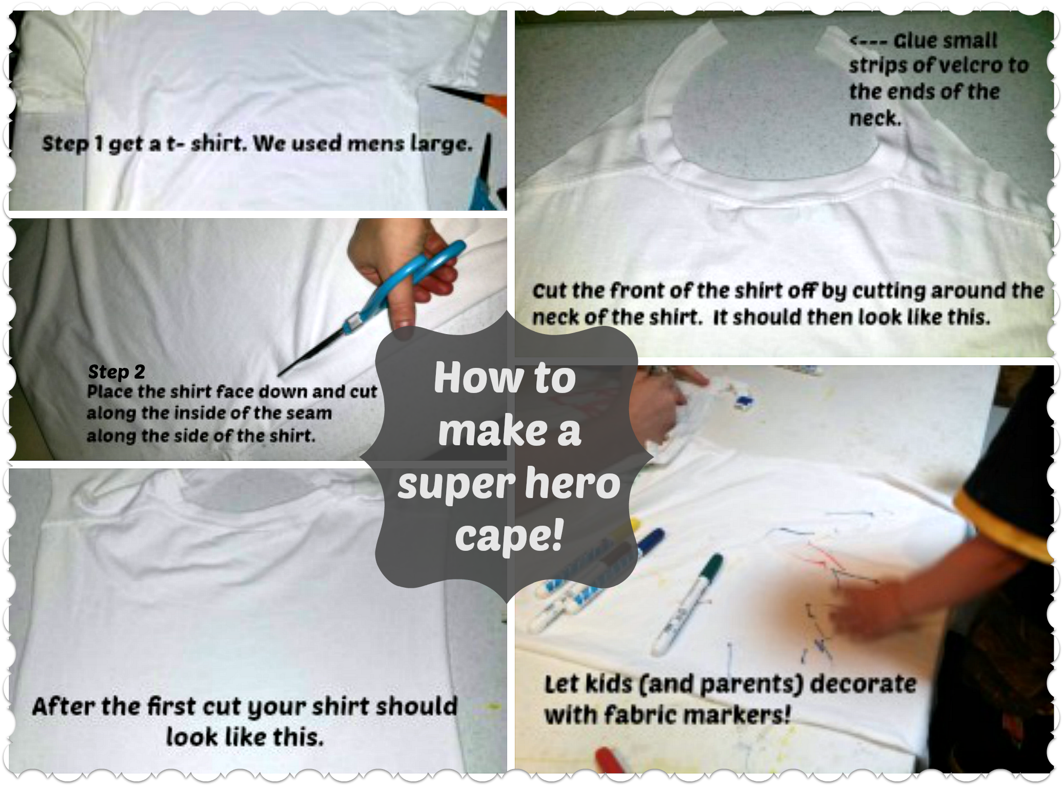 Super Hero Cape Collage