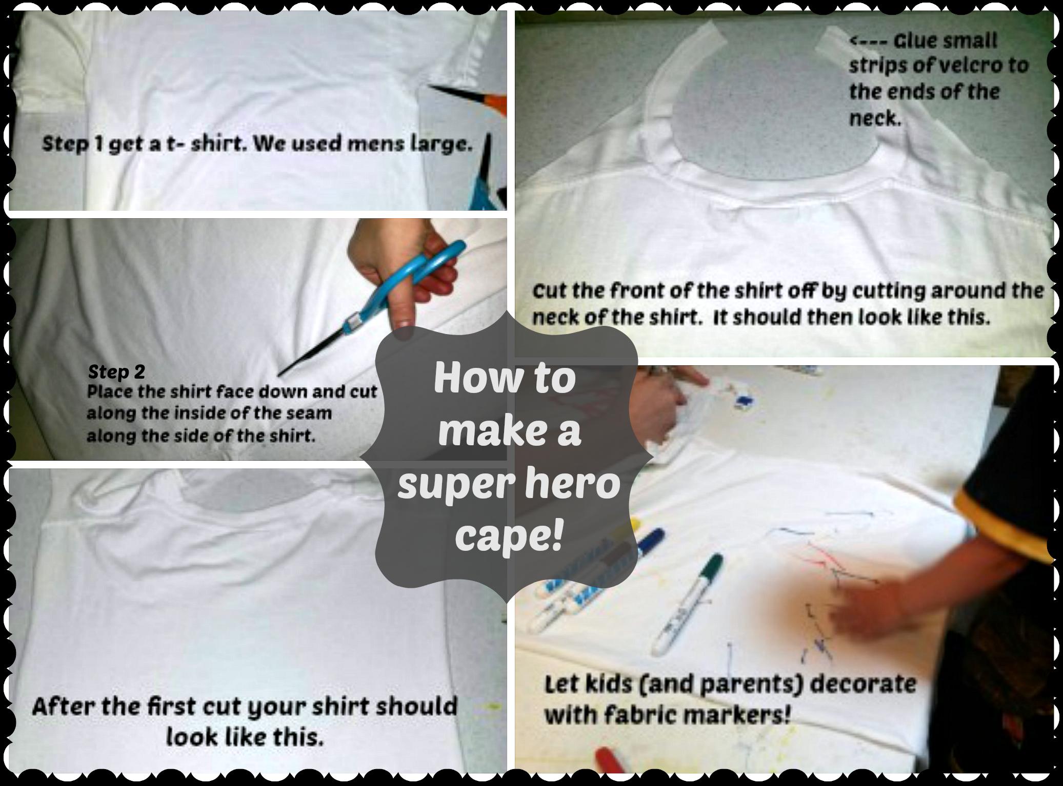 Super Hero Cape Collage