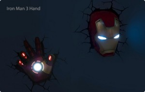 Iron Man head and hand