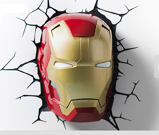 3d Deco Superhero Wall Lights Review : Iron Man 3D Light Review - Savior Cents