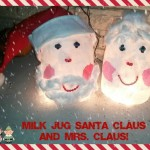 Milk Jug Santa and Mrs. Claus