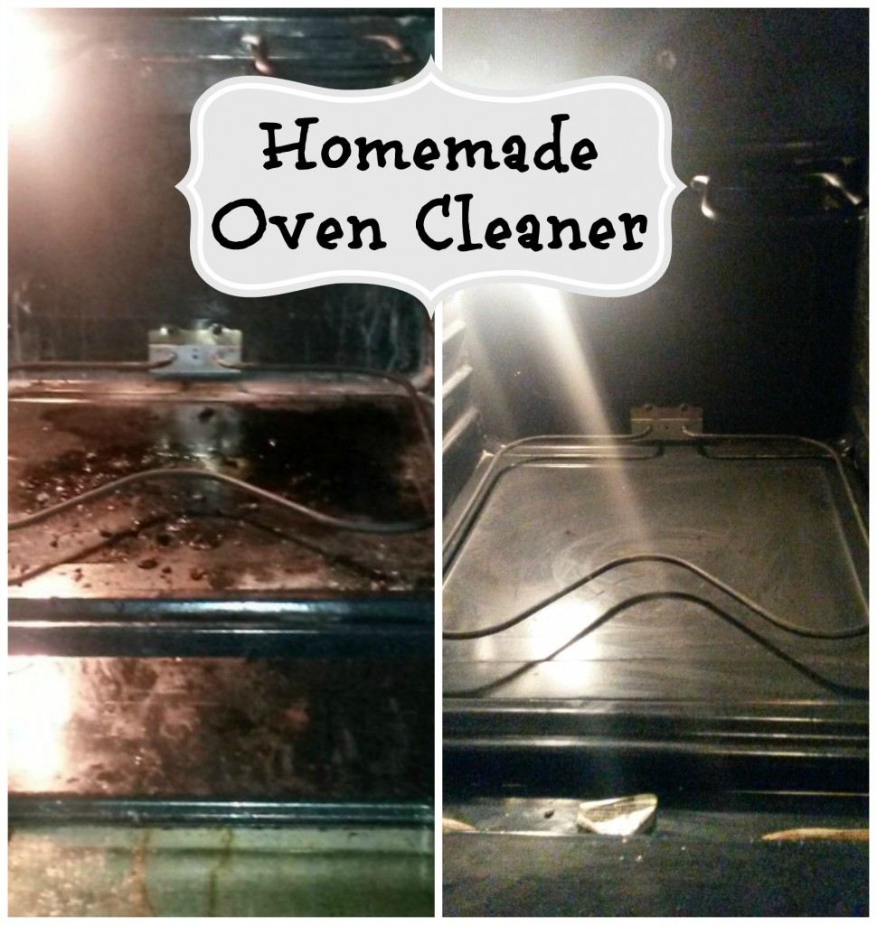 homemade oven cleaner Collage