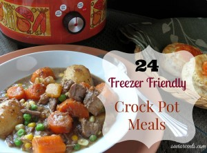 24 Freezer friendly crock pot meals